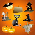 Beautiful Halloween icon set Royalty Free Stock Image