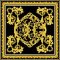 Baroque with gold scarf design
