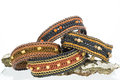Beautiful handmade dog collars Royalty Free Stock Photos