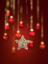 Beautiful hanging glittery star Stock Photography