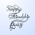 Beautiful happy friendsship day stylish text design Stock Image