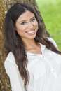 Beautiful Happy Hispanic Woman Smiling Stock Photography