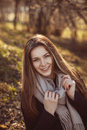Beautiful happy smiling woman in spring Royalty Free Stock Photography