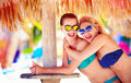 Beautiful happy women friends enjoy summer vacation on tropical beach two Royalty Free Stock Image