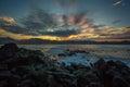 Beautiful Hawaiian Beach Sunset Royalty Free Stock Photo