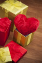 Beautiful heart in box! Stock Images