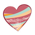 Beautiful heart a colored with lights and lines Royalty Free Stock Photography