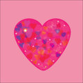 Beautiful heart illustration of icon card for valentines day invitation or congratulation Royalty Free Stock Image