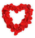 Beautiful heart of red rose petals Royalty Free Stock Photo