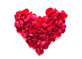 Beautiful heart of red rose petals Royalty Free Stock Image