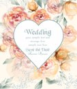 Beautiful heart shape wedding card with watercolor flowers Vector illustration Royalty Free Stock Photo