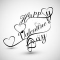 Beautiful heart stylish text design for happy valentine s day card Stock Images