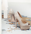 Beautiful heels vogue shoes on Stock Image