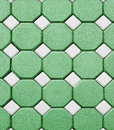 Beautiful Hexagonal brick flooring pattern in the park Royalty Free Stock Photo