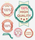Beautiful High Quality Labels Collection Royalty Free Stock Image