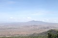 Beautiful hillocks and mt longonot volcano in the great rift valley of kenya from a view point somewhere near place kijabe Stock Photo