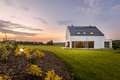 Beautiful home with amazing landscape Royalty Free Stock Photo