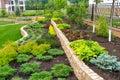A beautiful home garden near moscow Stock Photo