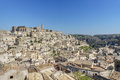 Beautiful horizon of ancient ghost town of Matera Sassi di Mate Royalty Free Stock Photo