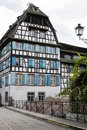 Beautiful house in the Petite-France in Strasbourg Royalty Free Stock Photo