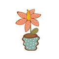 Beautiful house plant in vase vector illustration Royalty Free Stock Image