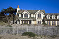 Beautiful houses near pfeiffer the beach in california Royalty Free Stock Photos