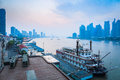 Beautiful huangpu river at dawn in shanghai Stock Image