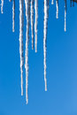 Beautiful icicles Stock Photography