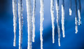 Beautiful icicles Royalty Free Stock Images