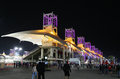 Beautiful illuminated main grandstand shakir bahrain april on sunday final night race april formula gulf air bahrain grand prix Stock Images