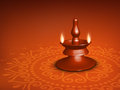 Beautiful illuminating Diya background Stock Image