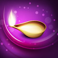 Beautiful illuminating Diya background Royalty Free Stock Image