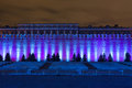 Beautiful illumination show wall kremlin moscow Stock Photos