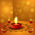 Beautiful illustration for happy deepavali design colorful background Stock Photography