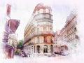 Beautiful image of Paris Royalty Free Stock Photo