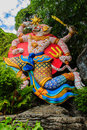 Beautiful Indian Lord Hanuman sculptures at the entrance