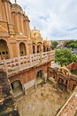 Beautiful interior architecture famous jaipur wind palace hawa mahal Royalty Free Stock Image