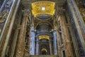beautiful  interior of st.peter basilica vatican rome italy Royalty Free Stock Photo