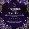 Beautiful invitation card for Ramadan Kareem Iftar Party celebration. Royalty Free Stock Photo