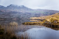 A beautiful irish mountain landscape with a lake in spring. Royalty Free Stock Photo