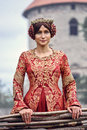 Beautiful Isabella of France, queen of England on Middle Ages period Royalty Free Stock Photo