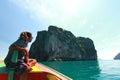 Beautiful island in thailand at trang Stock Image