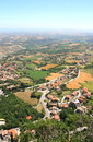 Beautiful Italian landscape. View from San Marino Stock Photography