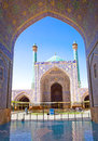Beautiful Jame Abbasi mosque (Imam mosque) Iran Royalty Free Stock Photos