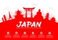 Beautiful Japan Travel Landmarks. Royalty Free Stock Photo