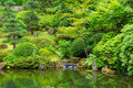 Beautiful japanese garden amazing zen Stock Photography