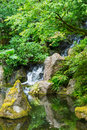 Beautiful japanese garden amazing zen Royalty Free Stock Images