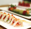 Beautiful Japanese rolls on the table