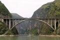 Beautiful Jiujiang Yangtze River Bridge At Dusk Royalty Free Stock Photo