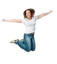 Beautiful jumping girl Royalty Free Stock Photography